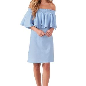 NWT Off-the- shoulder Chambray dress Size Small